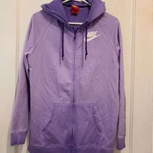 Nike women purple ombré sweater hoodie sz small